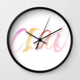 CIAO Italy Watercolor Colorful Print Wall Clock