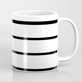 Simple Black and White Lines Decor Coffee Mug