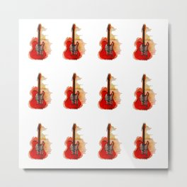 guitar pattern Metal Print