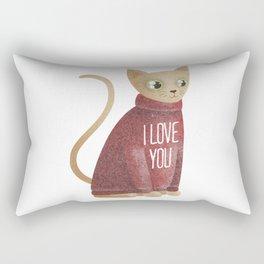 Cat in red sweater Rectangular Pillow