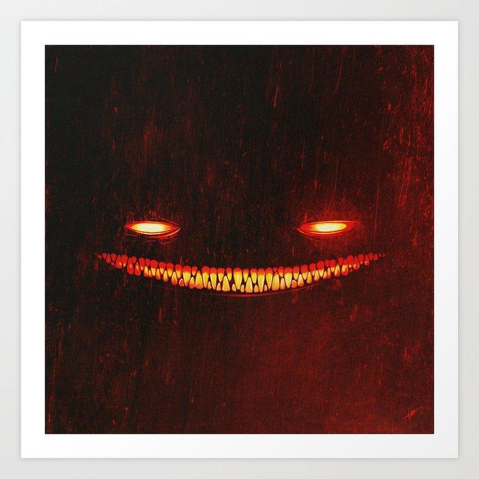 Smile (Red) Art Print