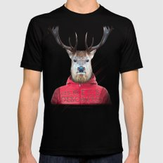 Cerf LARGE Black Mens Fitted Tee