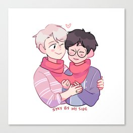 victuuri: stay by my side Canvas Print
