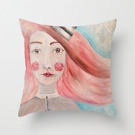 Pierrot Girl Throw Pillow