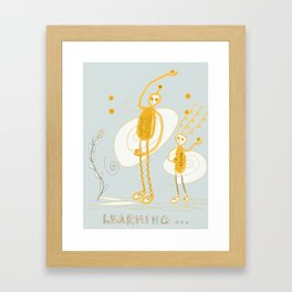 learning about curve balls Framed Art Print