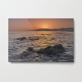 At sunset . Mediterranean Sea. Spain Metal Print