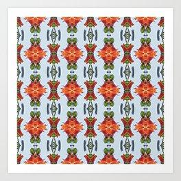 Royal Poinciana OP Pattern Art Print