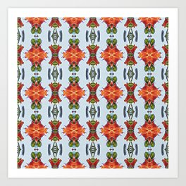 Royal Poinciana OP Pattern Art Print