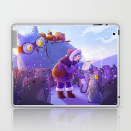 Witch and penguins Laptop & iPad Skin