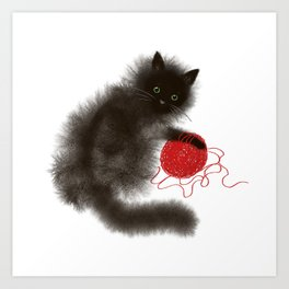 Mischievous cat Art Print