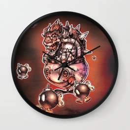 BOMBS AWAY BOWSER Wall Clock