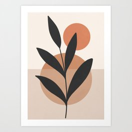 Abstract Minimal -Plant 7 Art Print