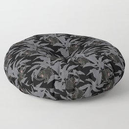 Black Panthers on Black. Floor Pillow