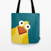 duck Tote Bags featuring Duck by Fairytale ink