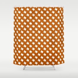 Texas longhorns college UT university sports football fan team alumni Shower Curtain