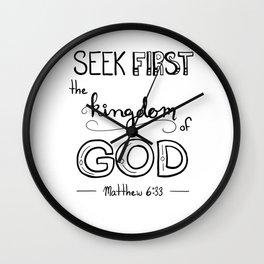 Seek First Classic Wall Clock