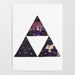 Pansy Triforce Poster