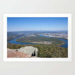 Chattanooga, Tennessee,  Tennessee River, Moccasin Bend Art Print