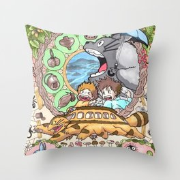 story ghibli Throw Pillow