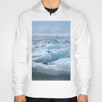 iceland Hoodies featuring Jökulsarlon Iceland by seraphina