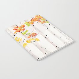 Autumn Birch Song Notebook