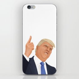 Donald Trump and his mighty hand iPhone Skin
