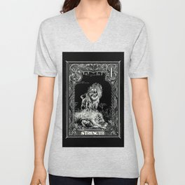 STRENGTH of Tarot Cat Unisex V-Neck