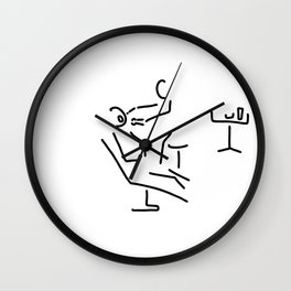dentist bore Wall Clock