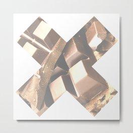 X Chocolate Metal Print