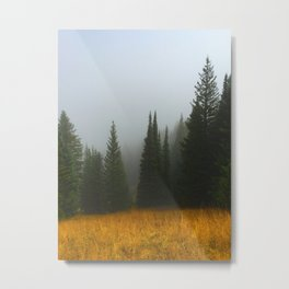 Olive Green Pines Metal Print