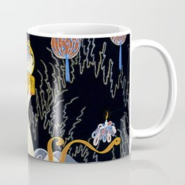 "Art Deco Illustration ""Stolen Kisses"" Coffee Mug"