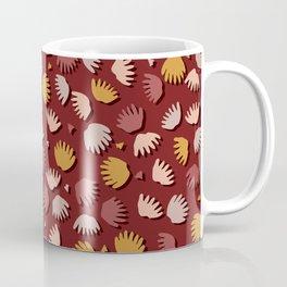 Fall Leaves Seamless Vector Pattern, Hand Drawn Autumn Falling Leaf Coffee Mug