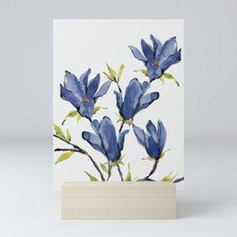 Blue Flowers 3 Mini Art Print
