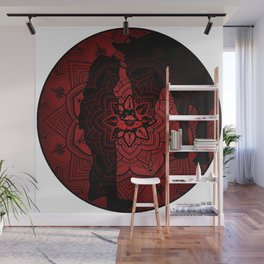 A girl with his horse Mandala Wall Mural