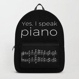 Yes, I speak piano Backpack