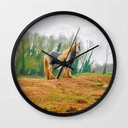 Gypsy Horse Wall Clock