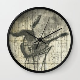 """GUITAR. A SERIES OF WORKS """"MUSIC OF THE RAIN"""" Wall Clock"""
