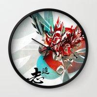 anaconda Wall Clocks featuring Búsqueda by Andre Villanueva