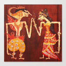 The Dancing Shadows of Wayang Theatre: The Engagement Canvas Print