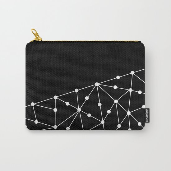 Abstract black and white pattern. Mesh . Carry-All Pouch