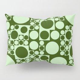 Green circles seamless background Pillow Sham