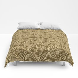 Golden glamour metal swirly surface Comforters