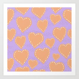 Hearts scrapbook Art Print
