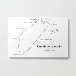 RennSport Shrine Series: la Sarthe Edition Metal Print