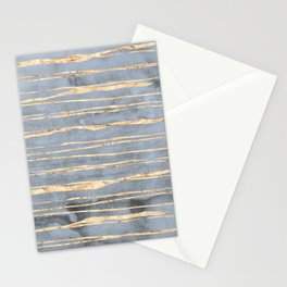 Watercolor Gradient Gold Foil III Stationery Cards