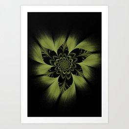 Heart is the Flower Art Print
