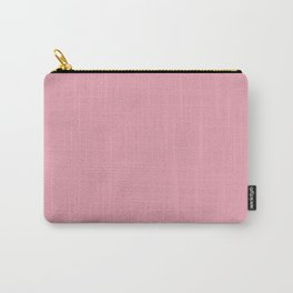 Rich Velvet Pink Rose Trendy Fashion Solid Color Carry-All Pouch