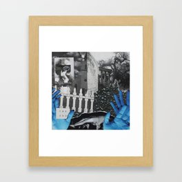 For all the graveyards between us. Framed Art Print