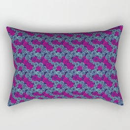 Oh Hello Voices - Pink/Teal Rectangular Pillow