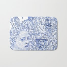 The Wild - Pen and Ink Bath Mat
